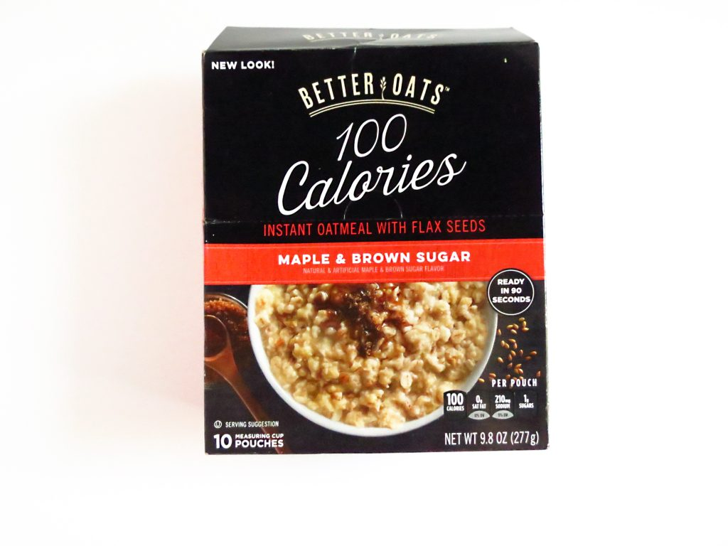 maple and brown sugar oatmeal 100 calories better oats brand healthy travel foods