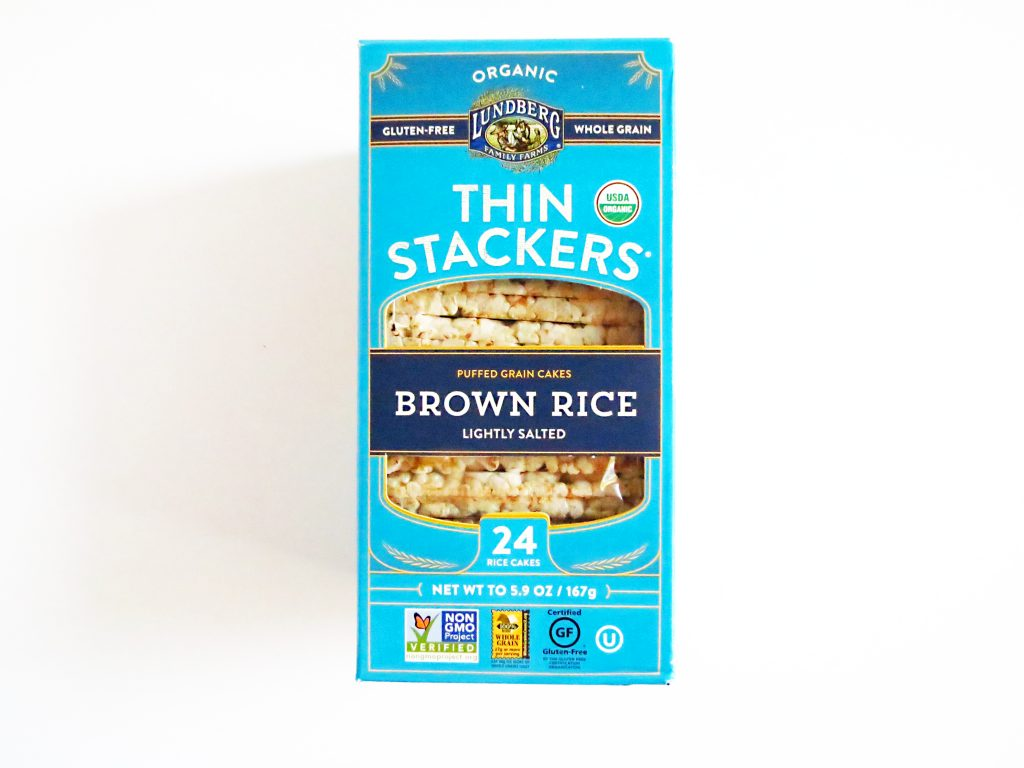 brown rice thin stackers lungberg brand